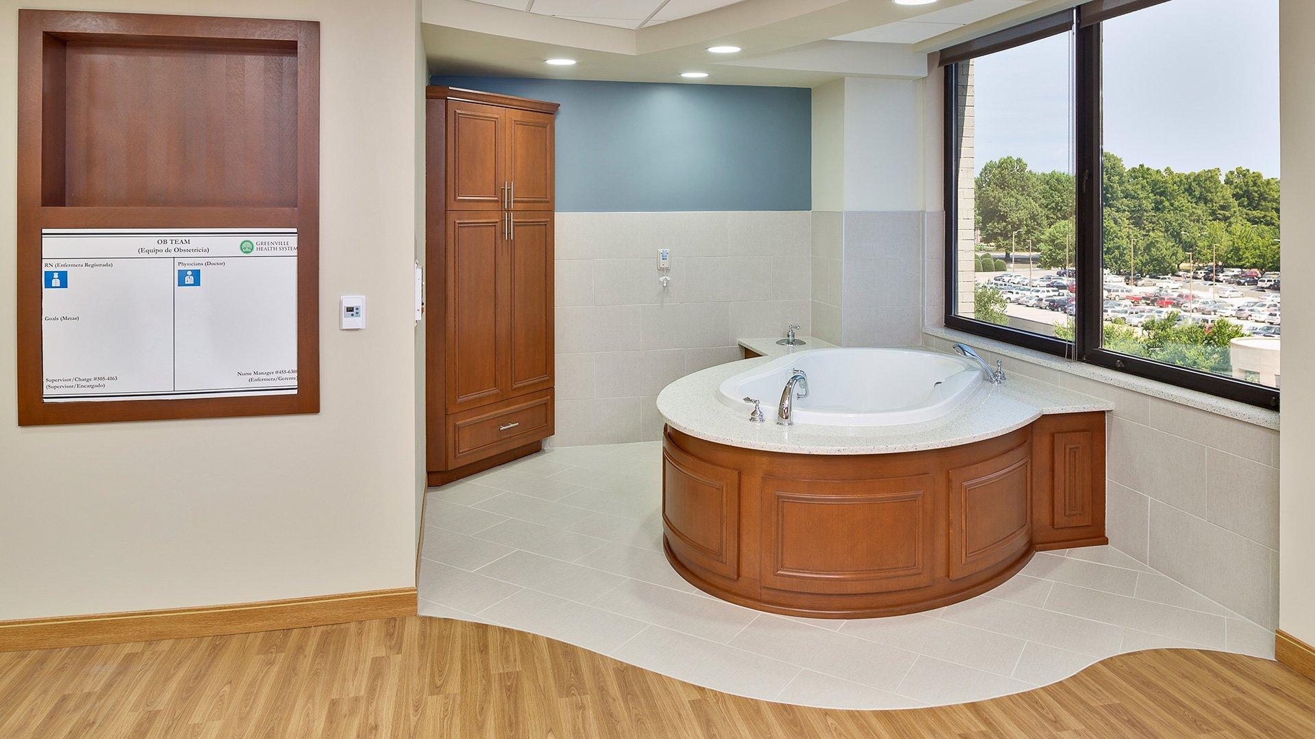 Greenville Health System, Birthing Tub Room
