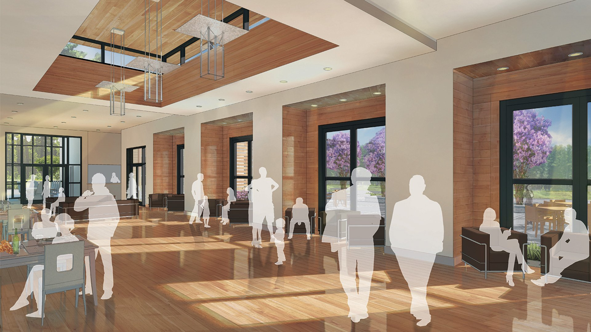 Chabad of Charleston, Interior Multi-Purpose Area Rendering