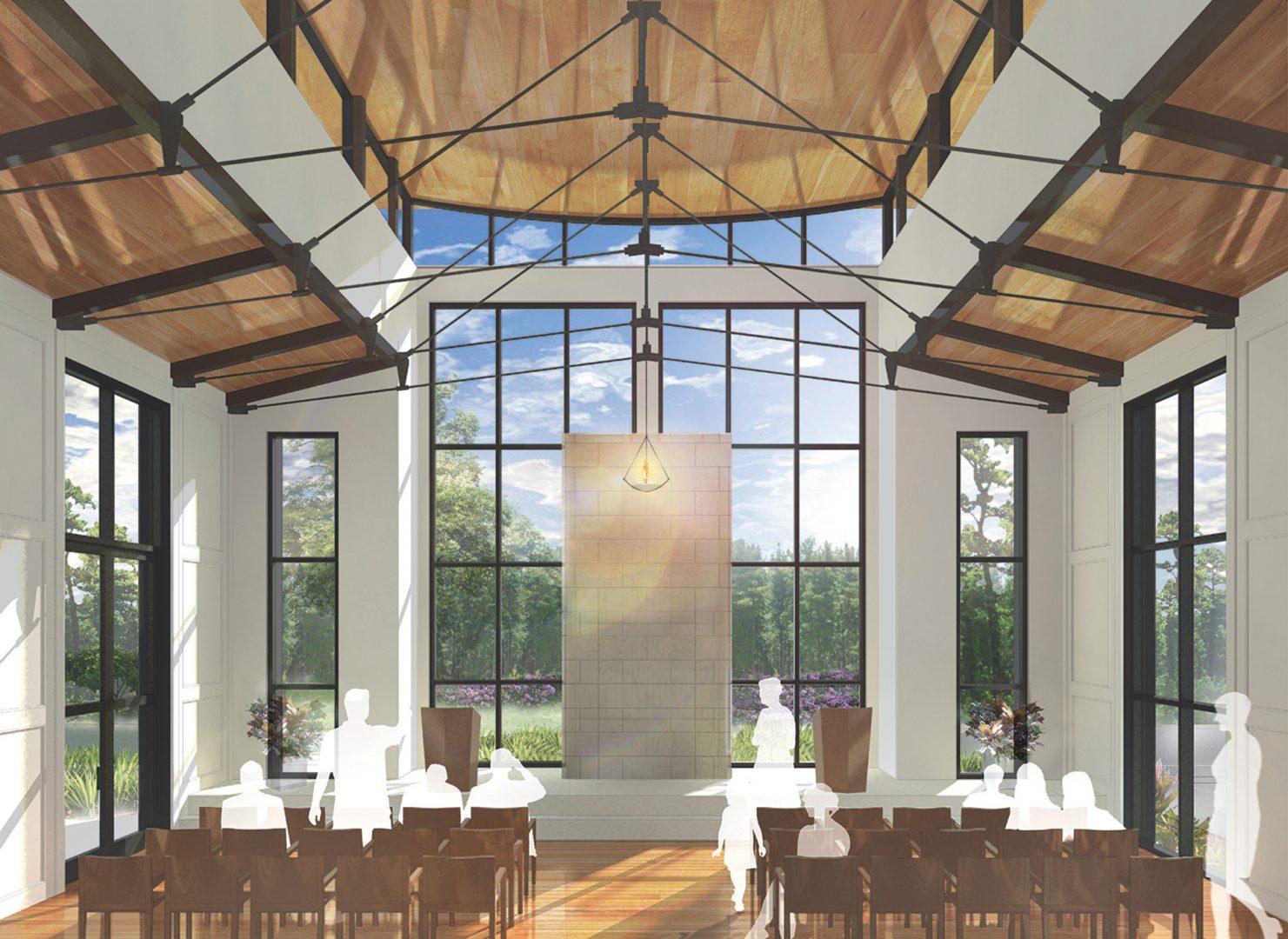 Chabad of Charleston, Interior Sanctuary Rendering