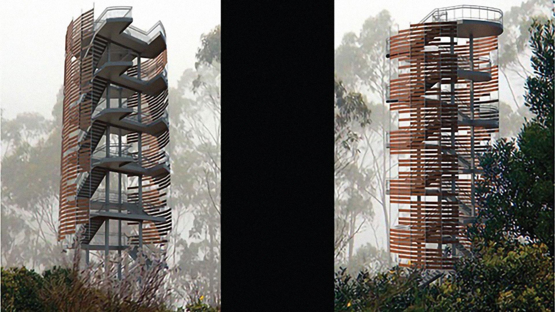 Sassafrass Mountain Rendering, AIA SC Design Award Recipient
