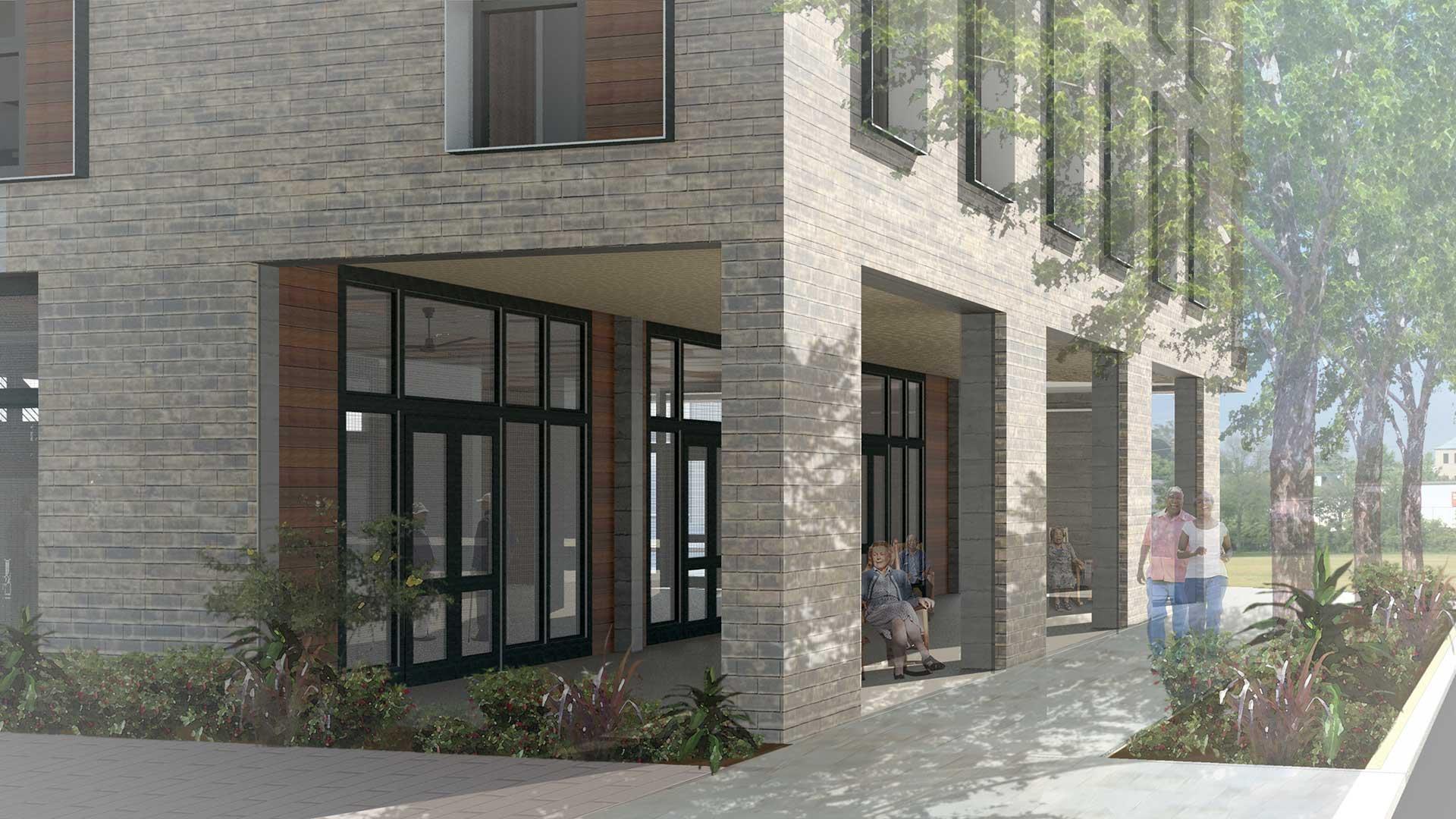 Williams Terrace, Rendering