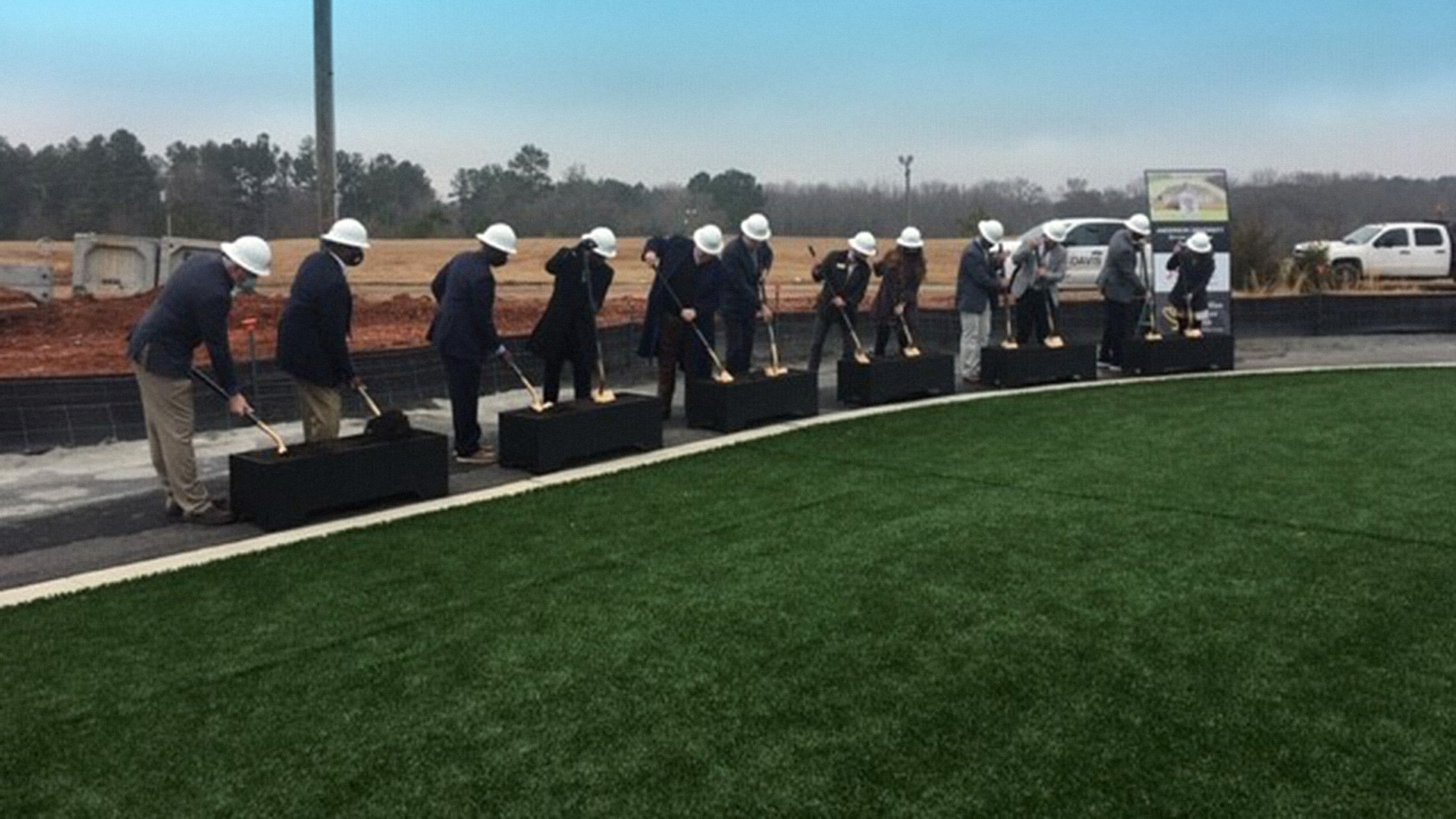 Anderson University Soccer and Lacrosse Field House, Groundbreaking photo