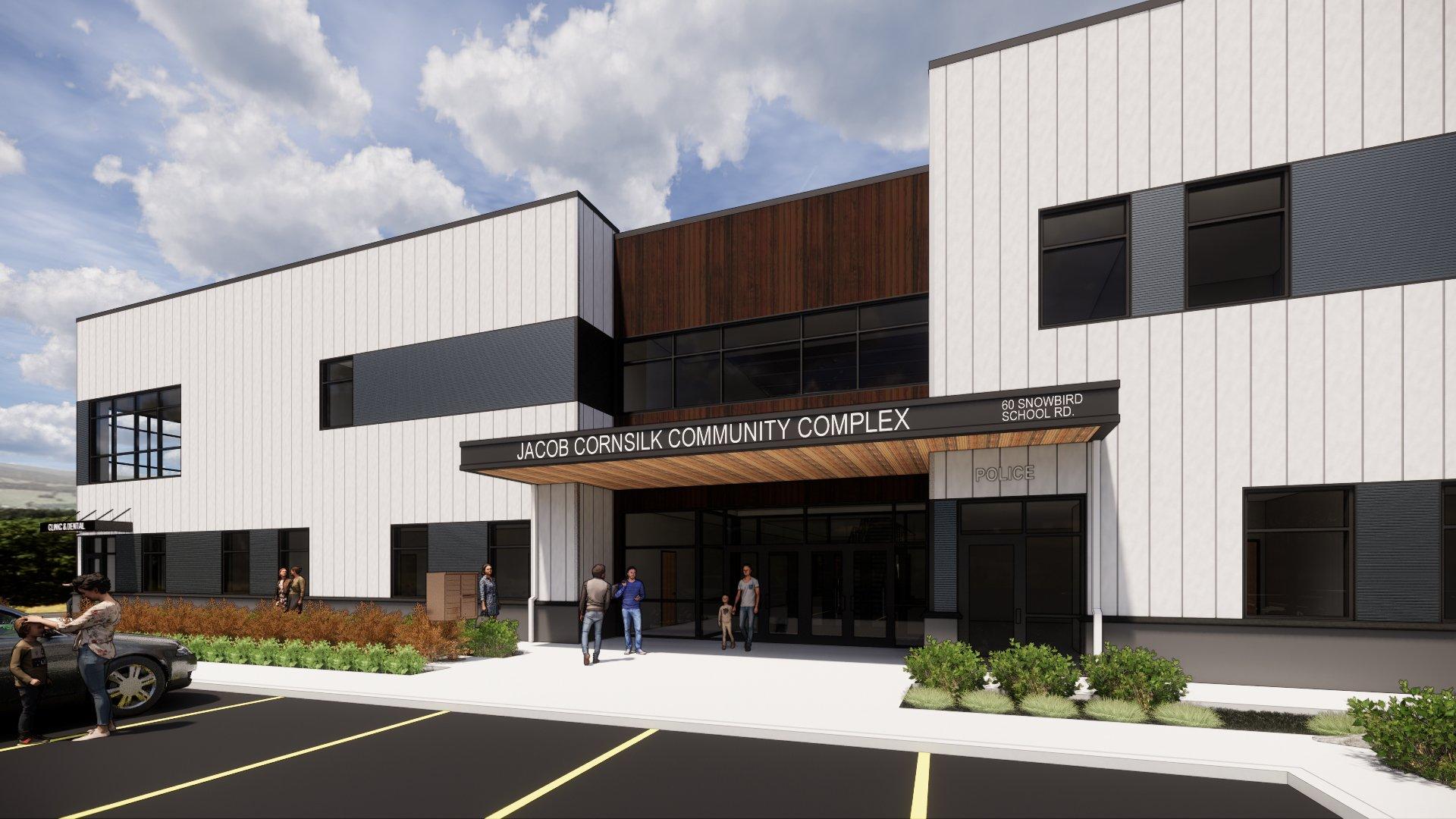 """Topping Out"" EBCI's Jacob Cornsilk Community Center in North Carolina"