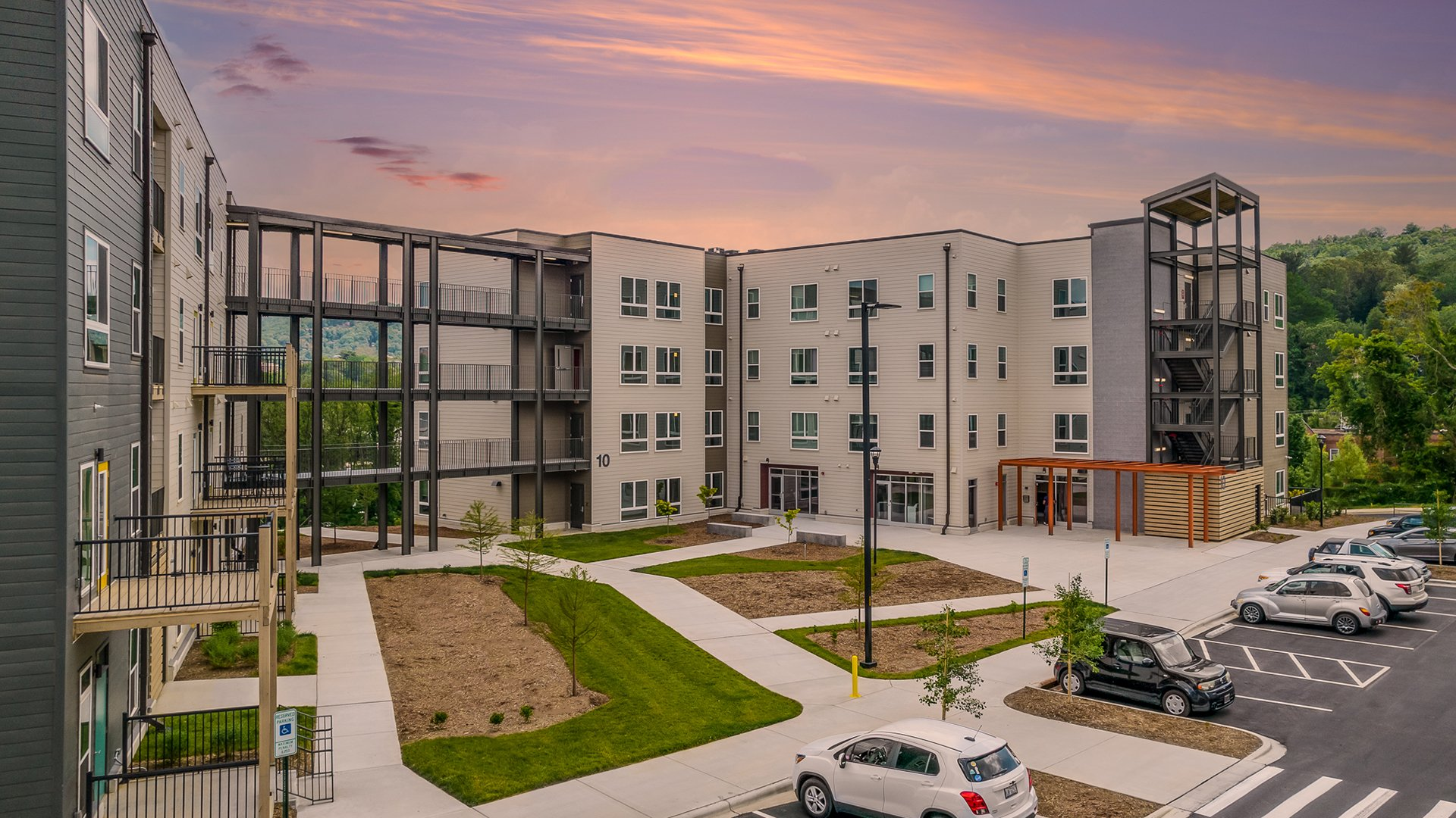 New Maple Crest Public Housing Nears Completion in Asheville