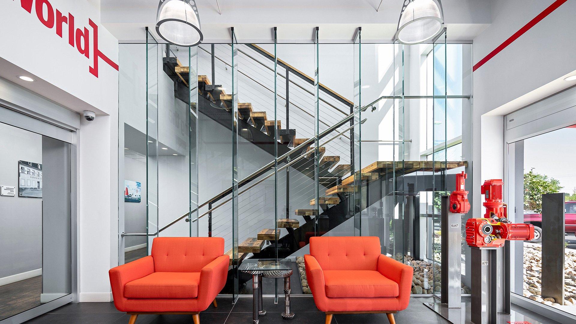 SEW-Eurodrive, East Lobby and Office Renovation