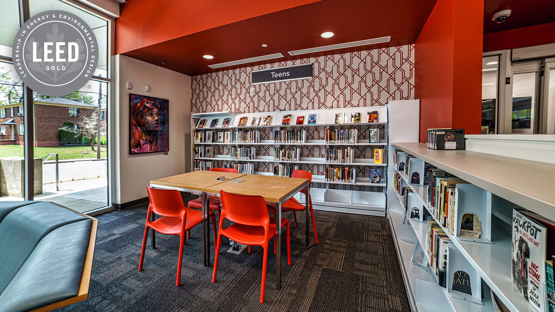Hapeville Library in Fulton County Achieves LEED Gold Certification