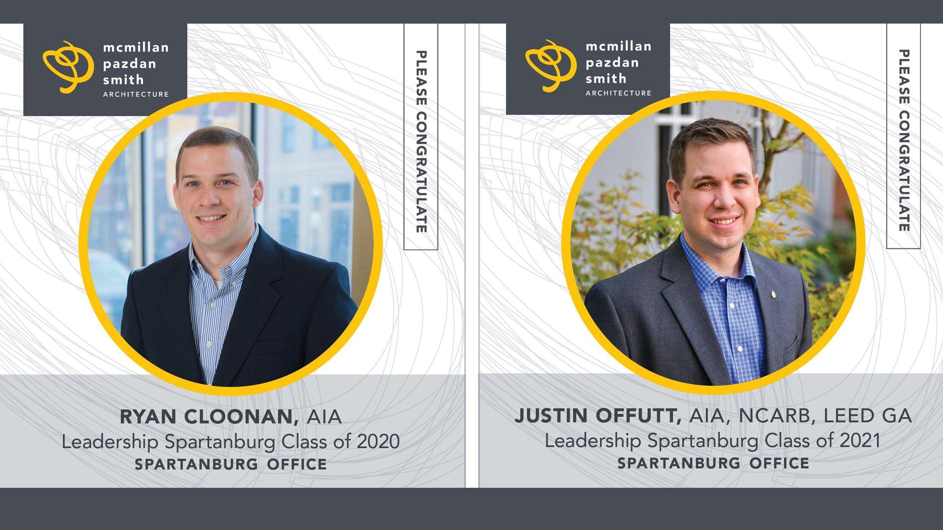 Ryan Cloonan and Justin Offutt Graduate from Leadership Spartanburg