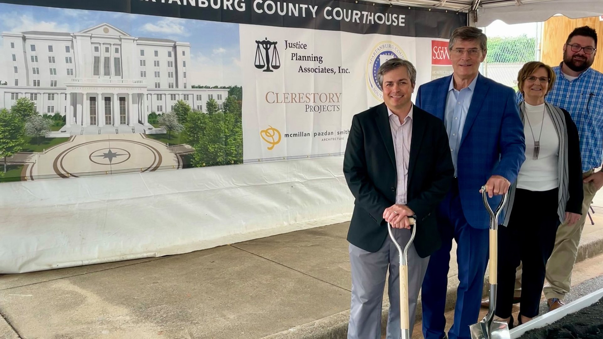 Spartanburg County and Partners Celebrate New Judicial Center Groundbreaking