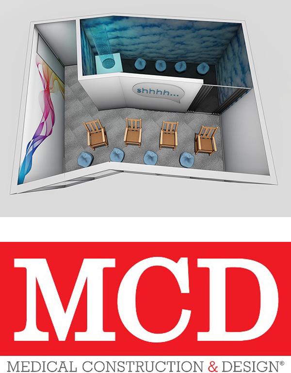 Bon Secours Sensory Suite Floor Plan pictured with MCD Logo